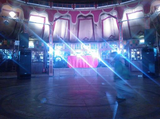 Spiegeltent Bristol dance floor