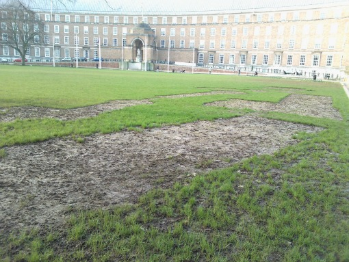 College Green Bristol mini golf damage