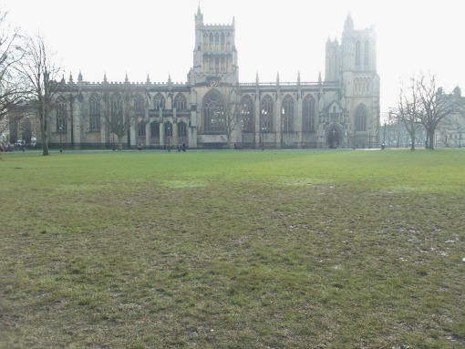 College Green Bristol tents damage