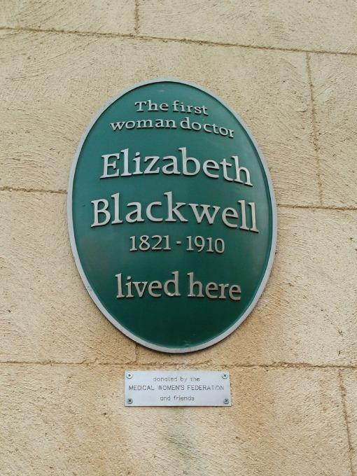 Elizabeth Blackwell plaque on Wilson Street