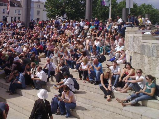Bristol Harbour Festival Cascade Steps crowd