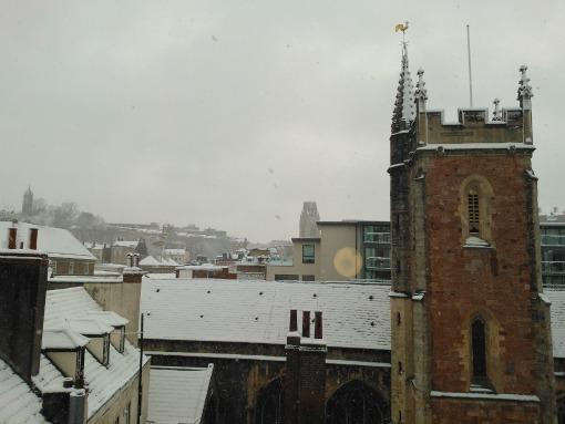 Lord Mayor's Chapel Bristol in the snow