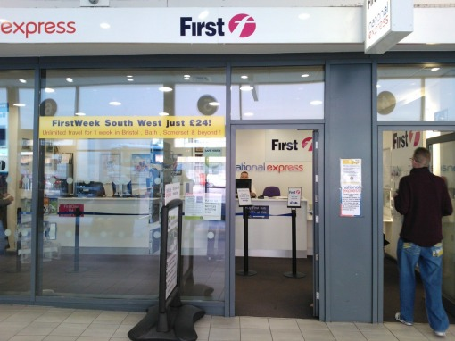 First's office in Bristol bus station