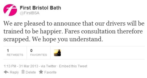 First fares tweet