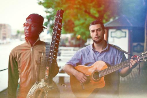 Joe Driscoll and Sekou Kouyate in Bristol