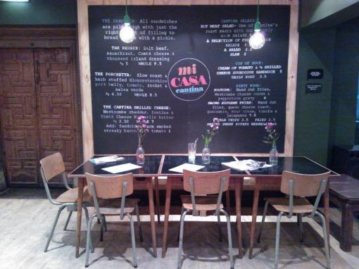 Mi Casa Cantina menu