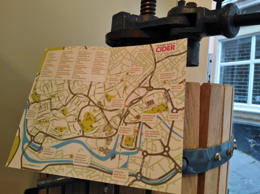 Naked Guide to Cider Bristol Map