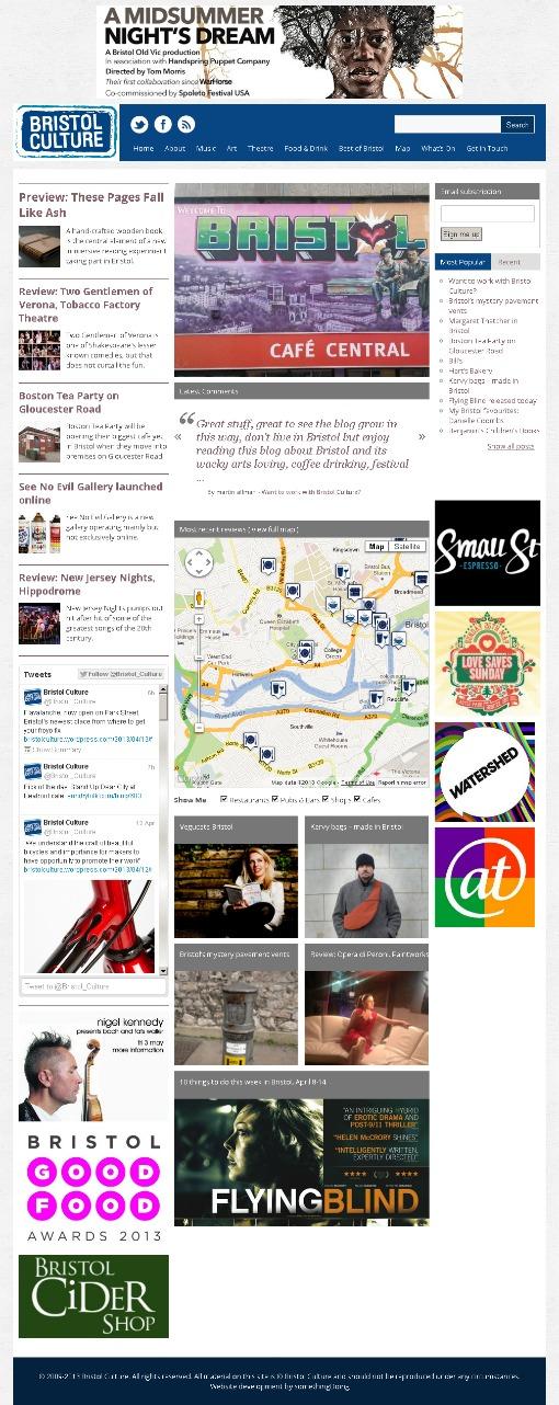 Bristol Culture homepage